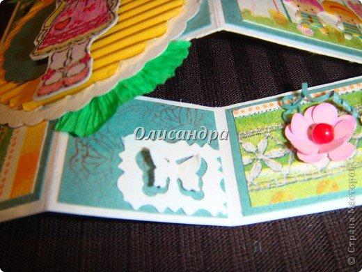 Очень нравится такая форма открытки...  Здесь можно посмотреть ,как это делается...   http://stranamasterov.ru/node/233169  , там ссылочки на МК ... А я решила, что больше делать такие не буду... Уже хочется чего-то новенького.... Фото 10