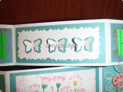 Очень нравится такая форма открытки...  Здесь можно посмотреть ,как это делается...   http://stranamasterov.ru/node/233169  , там ссылочки на МК ... А я решила, что больше делать такие не буду... Уже хочется чего-то новенького.... Фото 11