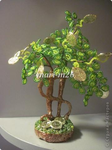Мастер-класс Бисероплетение: Green tree или ещё один вариант денежного дерева Бисер. Фото 1