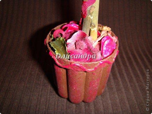 Здравствуйте, мои дорогие! Сделала небольшой презентик для подружки... топиарий из сухоцветов .... Фото 6