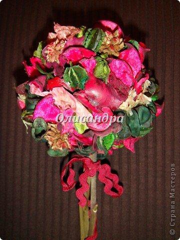 Здравствуйте, мои дорогие! Сделала небольшой презентик для подружки... топиарий из сухоцветов .... Фото 8
