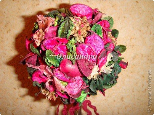 Здравствуйте, мои дорогие! Сделала небольшой презентик для подружки... топиарий из сухоцветов .... Фото 9