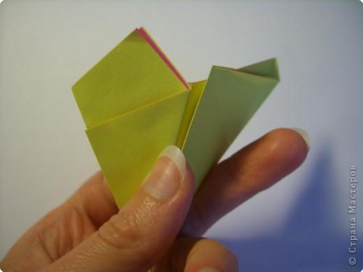 Мастер-класс Оригами МК Цветы Бумага фото 9