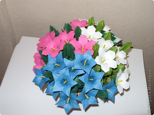 Мастер-класс Оригами МК Цветы Бумага фото 51