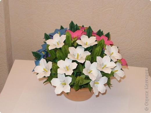 Мастер-класс Оригами МК Цветы Бумага фото 52