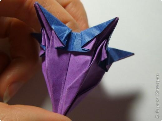 Мастер-класс Оригами МК Цветы Бумага фото 32
