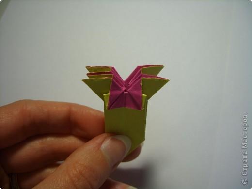 Мастер-класс Оригами МК Цветы Бумага фото 24