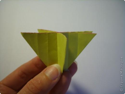 Мастер-класс Оригами МК Цветы Бумага фото 19