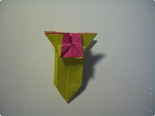 Мастер-класс Оригами МК Цветы Бумага фото 23