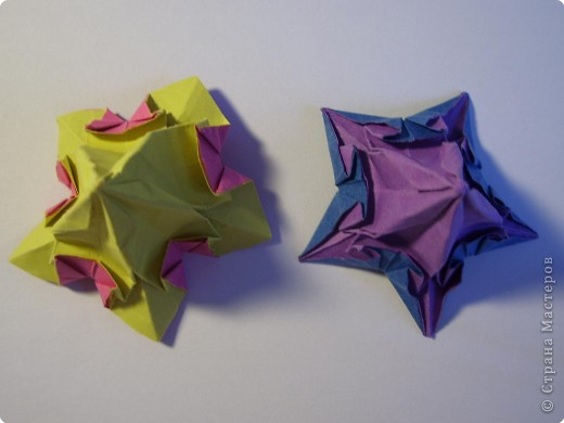 Мастер-класс Оригами МК Цветы Бумага фото 34