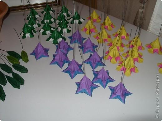 Мастер-класс Оригами МК Цветы Бумага фото 49