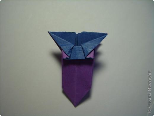 Мастер-класс Оригами МК Цветы Бумага фото 30