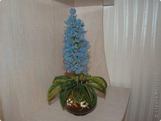 Поделка изделие Бисероплетение Цветок из бисера Бисер