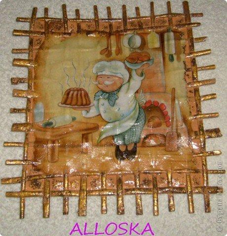 Картина панно рисунок Мастер-класс 8 марта Декупаж Плетение Панно небольшой мастер-класс Бумага газетная Краска Салфетки фото 1