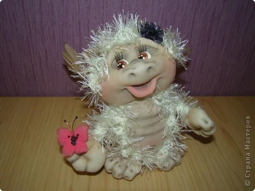 Куклы Новый год Шитьё Дракончики  Мастер класс 2 часть Капрон фото 9