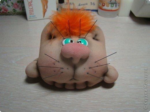 Игрушка Мастер-класс Шитьё Котошарик Капрон фото 34