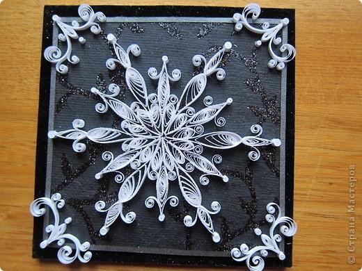 Поделка изделие Новый год Квиллинг новогодние магнитики Бумажные полосы фото 5