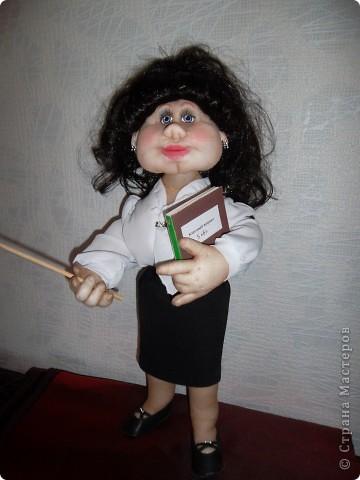 Куклы День учителя Шитьё учительница Ткань фото 1