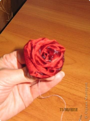 Бонсай топиарий Мастер-класс Шитьё МК роза для топиария Ткань фото 1