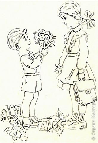 Картина панно рисунок Начало учебного года Вырезание Дети в школу собирайтесь Бумага фото 8