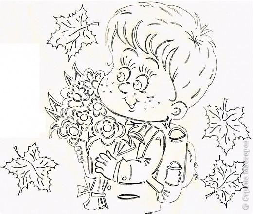Картина панно рисунок Начало учебного года Вырезание Дети в школу собирайтесь Бумага фото 11