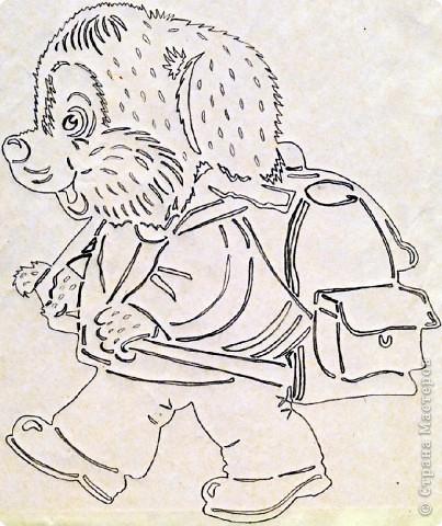 Картина панно рисунок Начало учебного года Вырезание Дети в школу собирайтесь Бумага фото 13