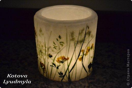 Мастер-класс Поделка изделие Свечи с полевыми цветами Материал природный Свечи фото 5