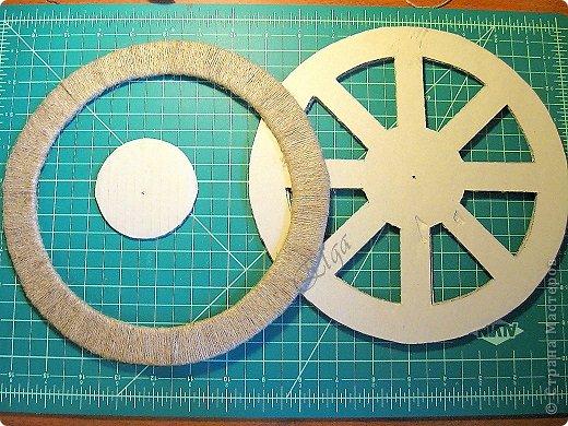 Мастер-класс Моделирование конструирование Чайное колесо Картон Клей Салфетки фото 12