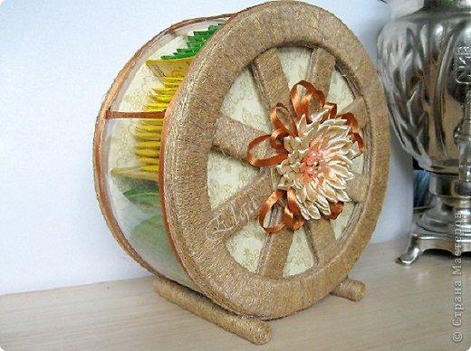 Мастер-класс Моделирование конструирование Чайное колесо Картон Клей Салфетки фото 1
