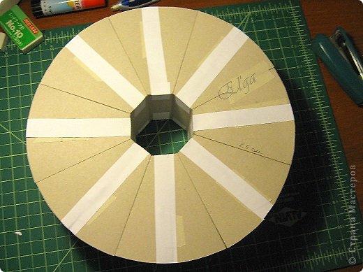 Мастер-класс Моделирование конструирование Чайное колесо Картон Клей Салфетки фото 9