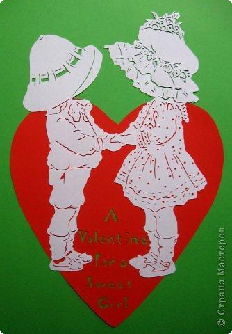 Картина панно рисунок Валентинов день Вырезание Валентинка Бумага фото 13
