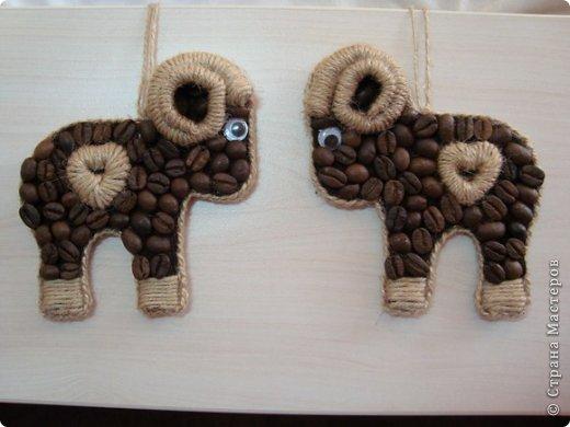 Мастер-класс Новый год Аппликация кофейные барашки символ2015 Кофе Шпагат фото 17