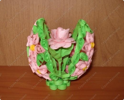 Поделка изделие Пасха Квиллинг пасхальное яйцо Бумага Клей фото 1