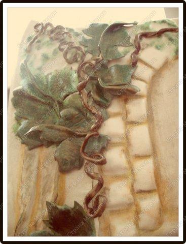 Декор предметов Мастер-класс Ассамбляж Ключница-панно из кожи -'Молдавский дворик   Дерево Картон гофрированный Клей Кожа Краска Салфетки фото 11