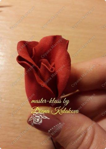 Мастер-класс 8 марта День рождения Новый год Свадьба Роза Вивьен Фоамиран фом фото 9