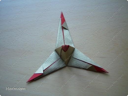 Мастер-класс Кусудама Звезда от Paolo Bascetta МК Бумага фото 10