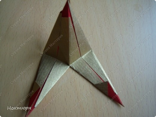 Мастер-класс Кусудама Звезда от Paolo Bascetta МК Бумага фото 9