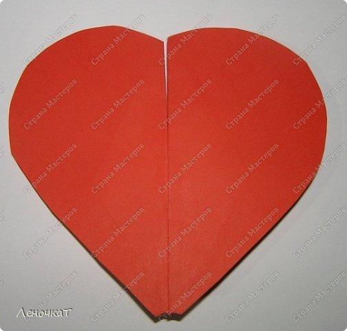 Мастер-класс 8 марта Валентинов день День матери Бумагопластика Сердечко с сюрпризом Бумага фото 2