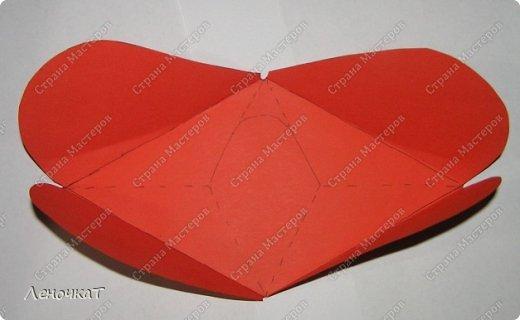 Мастер-класс 8 марта Валентинов день День матери Бумагопластика Сердечко с сюрпризом Бумага фото 4