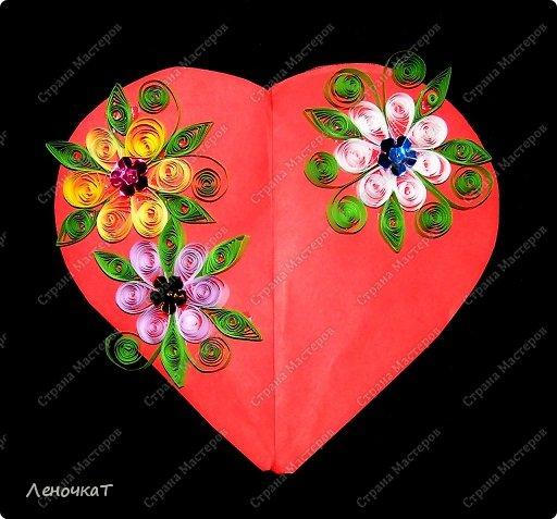 Мастер-класс 8 марта Валентинов день День матери Бумагопластика Сердечко с сюрпризом Бумага фото 1
