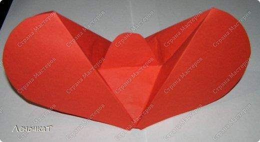 Мастер-класс 8 марта Валентинов день День матери Бумагопластика Сердечко с сюрпризом Бумага фото 7