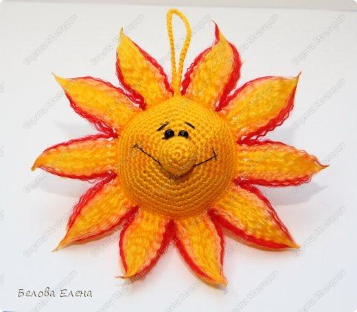 Мастер-класс Вязание крючком Солнышко Пряжа фото 28