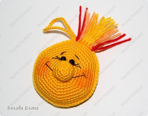 Мастер-класс Вязание крючком Солнышко Пряжа фото 24