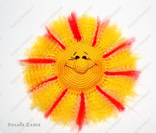Мастер-класс Вязание крючком Солнышко Пряжа фото 26