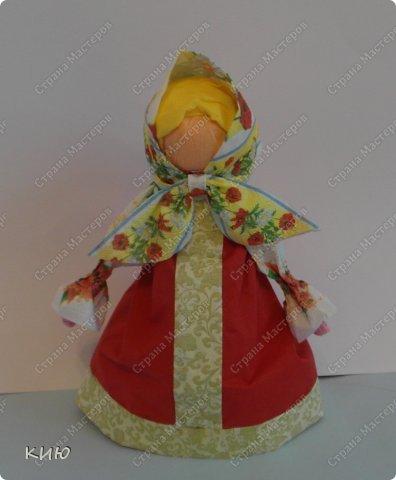Куклы Мастер-класс Моделирование конструирование МК Аленка- кукпа из бумажных салфеток на бутылке  Салфетки фото 1