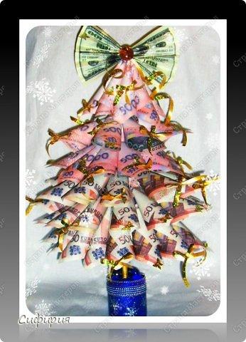 Бонсай топиарий Мастер-класс Новый год Моделирование конструирование Денежная ёлка Бумага Гипс Клей фото 2