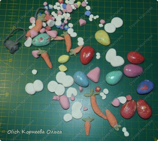 Игрушка Мастер-класс Пасха Лепка Шитьё Пасхальные кролики Кофе Нитки Ткань Фарфор холодный Фетр Шпагат фото 27