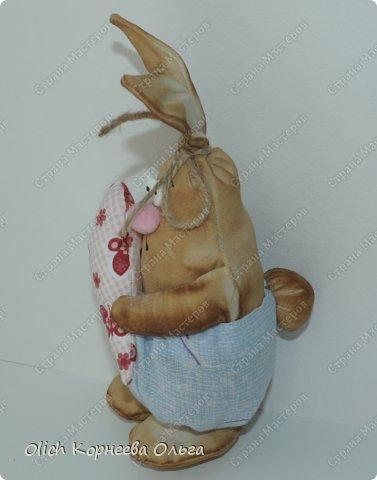 Игрушка Мастер-класс Пасха Лепка Шитьё Пасхальные кролики Кофе Нитки Ткань Фарфор холодный Фетр Шпагат фото 3