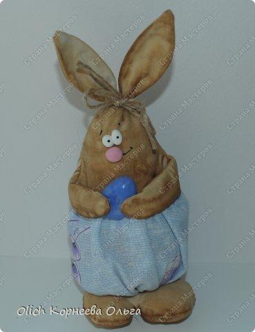 Игрушка Мастер-класс Пасха Лепка Шитьё Пасхальные кролики Кофе Нитки Ткань Фарфор холодный Фетр Шпагат фото 5