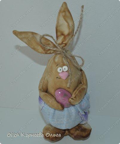 Игрушка Мастер-класс Пасха Лепка Шитьё Пасхальные кролики Кофе Нитки Ткань Фарфор холодный Фетр Шпагат фото 6